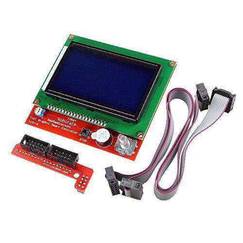 Controlador Gráfico LCD 128x64 Para Painel De Impressora 3d RepRap RAMPS com slot SD Card