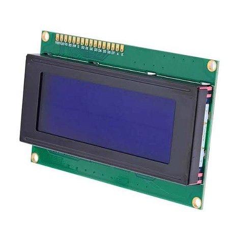 Display Cristal Líquido LCD 20x4 com Luz de fundo azul