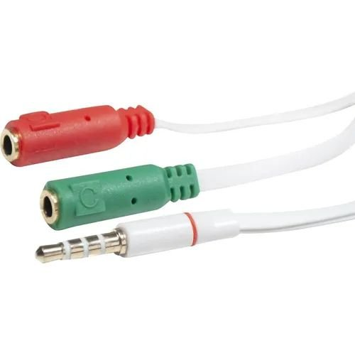 Cabo Adaptador de Audio P3 - Fone + Microfone