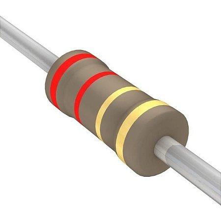 Resistor 1/4W 2R0 Ohms x 10 Unidades
