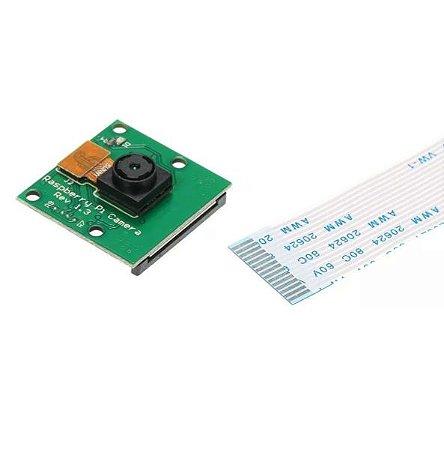Módulo Câmera Para Raspberry Pi 5mp + Cabo Flat Rev 1.3