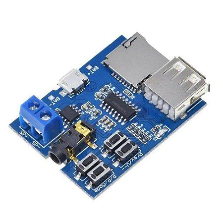 Módulo Amplificador e Decodificador de Áudio MP3
