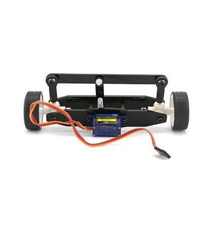 KIT Diy Sistema de Movimentação Dianteiro ZX2 Com Rodas e Servo Motor