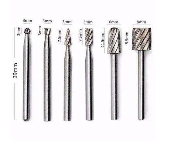 KIT de ferramentas Dremel e Micro retíficas   - 6 Peças