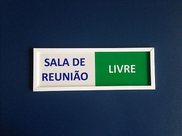 Placa Livre/ocupado Para Sala De Reunião
