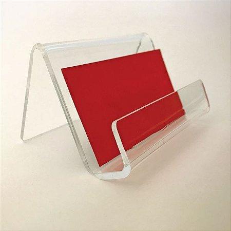 Porta Cartões em Acrílico Formato  09 cm x 05 cm