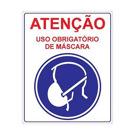 Adesivo Para Uso Obrigatório de Máscaras de Proteção