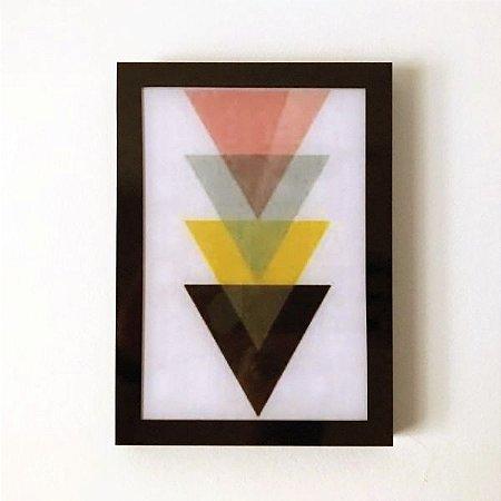 Quadro Decorativo em Acrílico Triângulos