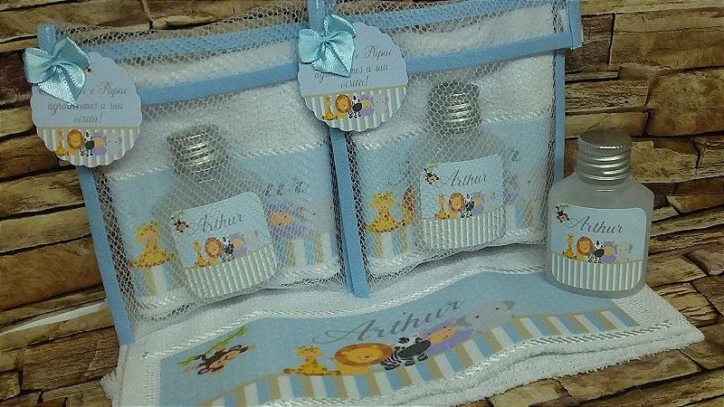Lembrancinha de Maternidade com Toalhinha Personalizada