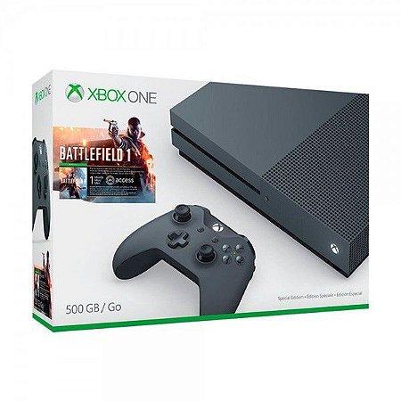Console Xbox One 500Gb + Battlefield 1 - COR (PRETO)