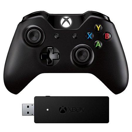 Controle Xbox One P2 Original + Adaptador Pc
