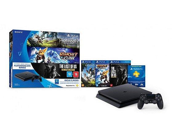 PS4 Slim 500GB+3 Jogos