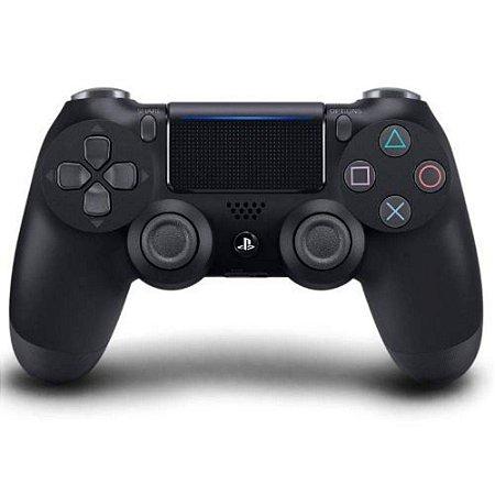 Ps4 - Controle Sem Fio Dualshock 4 Preto Modelo Novo - Sony