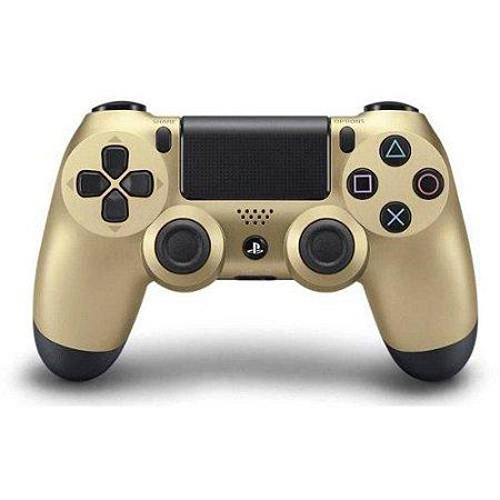 Ps4 - Controle Sem Fio Dualshock 4 Dourado Modelo Novo - Sony