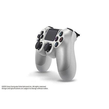 Ps4 - Controle Sem Fio Dualshock 4 prata Modelo Novo - Sony
