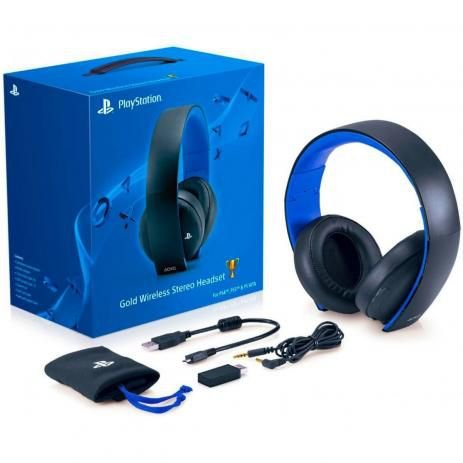 Headset Sony Wireless Stereo Gold PS3 PS4 e PS Vita 7.1 - Sony