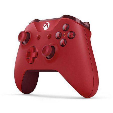 Controle Xbox One S Wireless E Bluetooth cor Vermelho