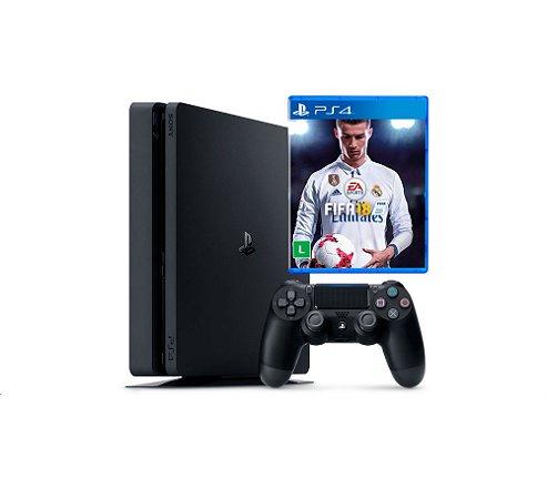 Console PS4 Slim 1Tb + Fifa 2018 (em Português)