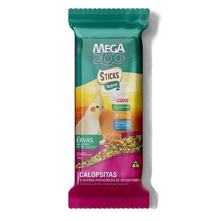 Sticks para Calopsitas MegaZoo Ervas, Mel e Ovos 120g