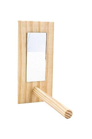 Espelho com Poleiro para Pequenos Psitacideos