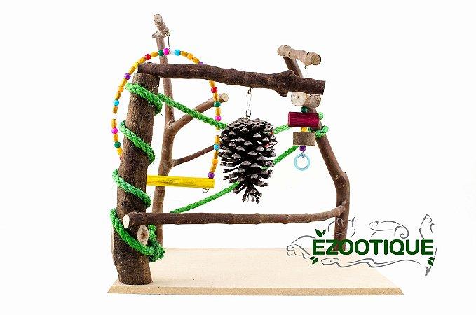Playground para Calopsitas e Pequenos Psitacídeos - Médio