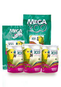 Ração Megazoo Papagaio Original Regular Bits - AM16 - 600g, 4kg e 12kg