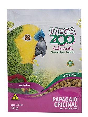 Ração Megazoo Papagaio Original Large Bits 600g