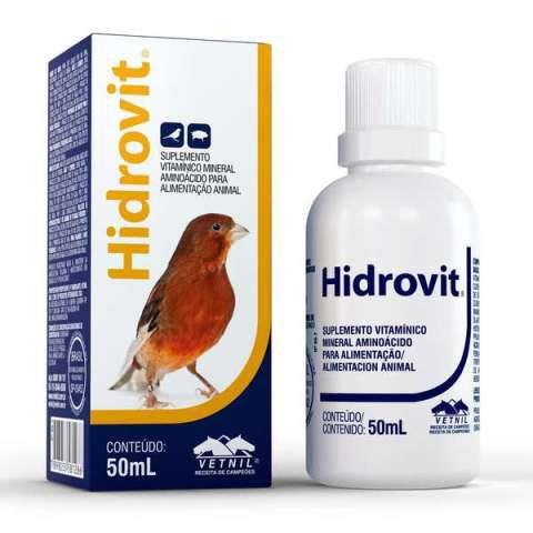 Hidrovit - 50ml - Suplemento para pássaros