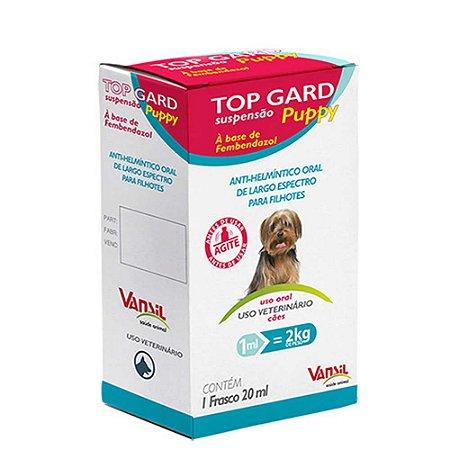 Top Gard Puppy 20ml - Vermífugo a base de Fembendazole