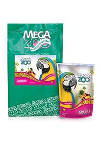 Ração Megazoo Araras Frutas e Legumes - 600g e 4kg