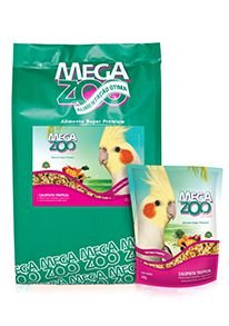 Megazoo Mix Calopsitas Tropical - 500g e 8kg