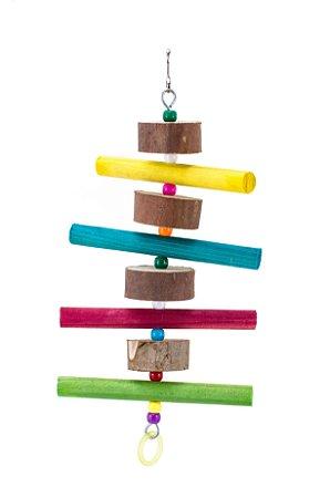 Pêndulo em madeira colorido