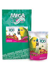 Raçao Megazoo Papagaio - Frutas e Legumes - 600g e (4kg-30% de Desconto*)
