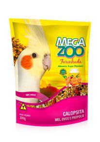 Farinhada Megazoo Calopsita Mel, Ovos e Própolis 300g