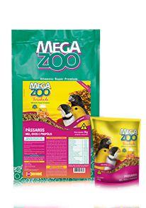 Farinhada Megazoo Pássaros Mel, Ovos e Própolis - 300g e 5kg
