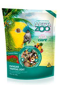 Mistura de Sementes Megazoo Papagaio Tropical Light com Vitacare- 500g