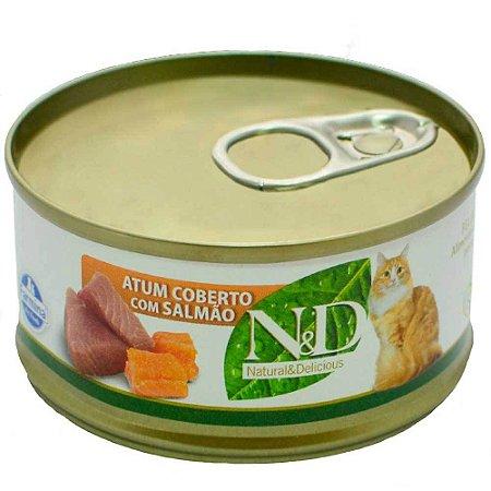 Ração Farmina N&D Úmida de Atum e Salmão para Gatos - 70 g