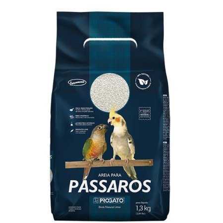 Areia para Aves Progato - 1,3kg - Neutraliza odores