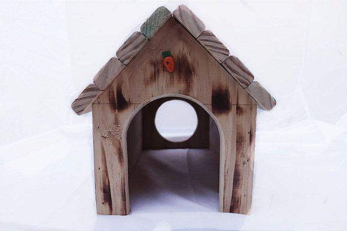 Casinha para roedores em madeira