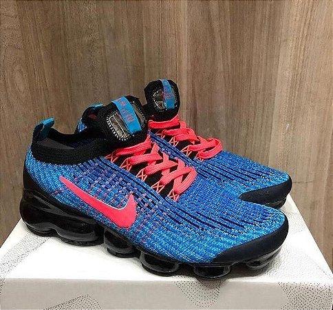 Tênis Nike Vapormax 3.0 - Azul/Laranja