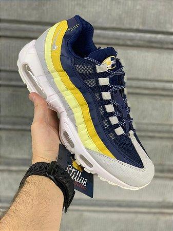 Tênis Nike Air max  95 -Branco/Amarelo