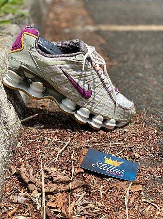 Tênis Nike Shox TL - Cinza/Roxo