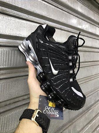 Tênis Nike Shox TL - Preto/ Prata
