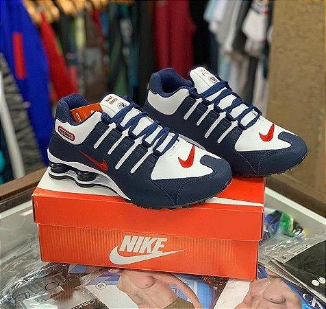Tênis Nike Shox - Azul/vermelho