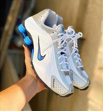 Tênis Nike Shox R4 - Branco/Azul