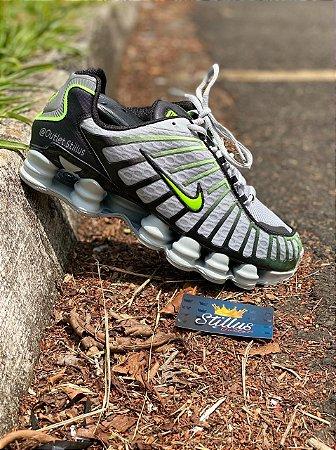 Tênis Nike Shox TL - Cinza/verde