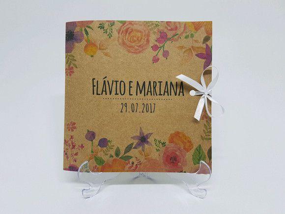 Convite floral rustico oferta