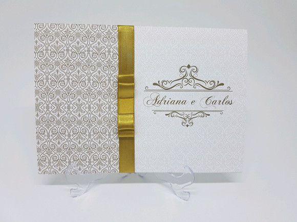 Convite casamento - dourado