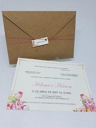 Convite floral rustico