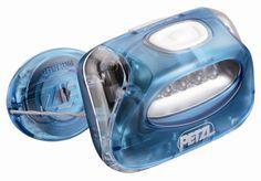 Lanterna Petzl - Zipka azul/branco
